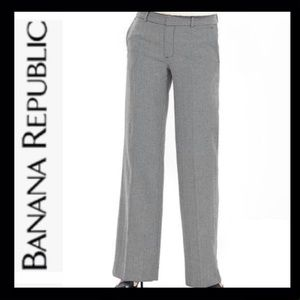 NWT Banana Republic Wide Leg Herringbone Pant